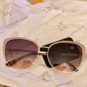 Tan & gold rimmed sunglasses from New York & Co.